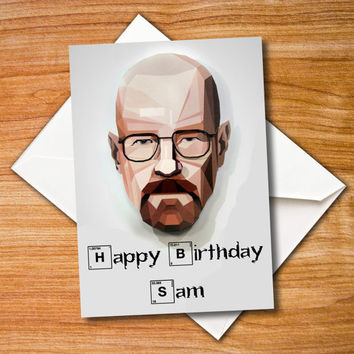 birthday card Breaking Bad, greeting card, Heisenberg Card, Walter White, blank card, Anniversary Card, paper goods