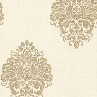 Brewster Home Fashions Naturale Duchess Damask Wallpaper Sample
