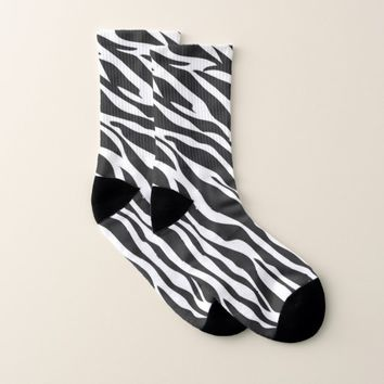 Zebra Pattern Socks