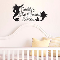 Inspired by The Little Mermaid Wall Decal Sticker Daddy's Princess