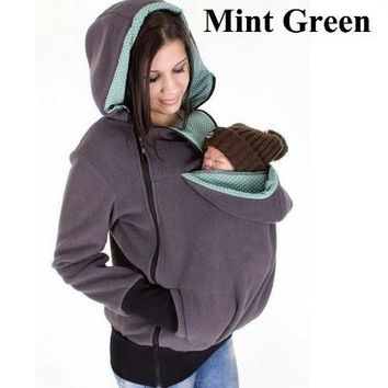 Sweatshirts Maternity Kangaroo Hoodies Blouse With Baby Carriers Mom Jacket Outerwear