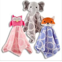 These are Adorable!  Plush Animal Security Blankets-assorted Styles-Elephant, Fox and Owl-So Cute and Cuddly