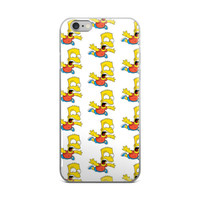 Bart Simpson Collage The Simpsons White iPhone 4 4s 5 5s 6 6s 6 Plus 6s Plus 7 & 7 Plus Case
