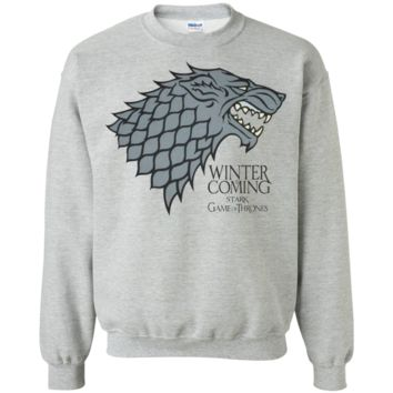 Official T Shirt Game of Thrones Black Stained G180 Gildan Crewneck Pullover Sweatshirt  8 oz.