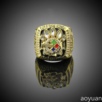 aoyuan Championship rings,2005 Pittsburgh Steelers Super Bowl Championship Rings, sports fans r