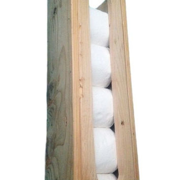 Reclaimed Wood Toilet Paper Roll Storage Holder