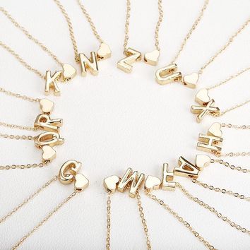 small gold letter necklace initials