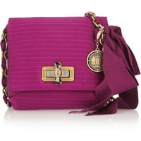Lanvin | The Mini Pop quilted satin shoulder bag | NET-A-PORTER.COM