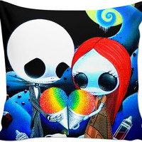 The Nightmare Before Christmas Jack And Sally Couch Pillow
