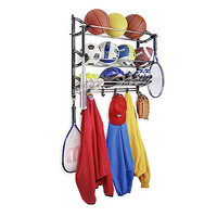 Rack Wall Mount Coat With Adjustable Hook Sports Baseball Skateboard Hat Storage