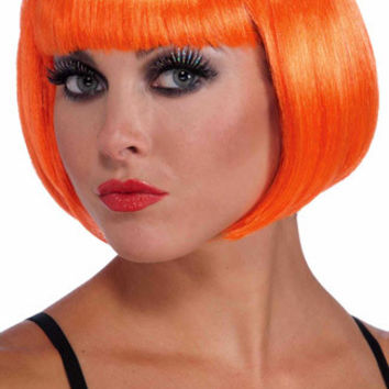 Neon Orange Bobbed Wig