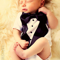 Any Size New and Improved Quality Boys Tuxedo Carters Onesuit Shirt Baptism Wedding Thanksgiving New Years Special Birthday