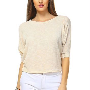 Lightweight Loose Crop Top