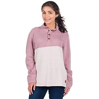 Herringbone Loop Pullover in Passion Rose by The Southern Shirt Co.