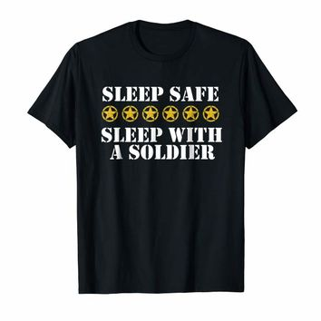 Army Wife Shirt - Sleep Safe With A Soldier Shirt - Military