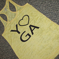 Yoga Tank Top. Namaste. Fitness Tank. OM. Pilates. Just Breathe. Yoga Clothes. Peace. WorkItWear