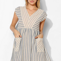 BDG Stripe-Mix Woven Babydoll Dress - Urban Outfitters