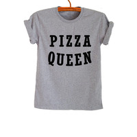 Pizza Slut Tee Grey Hipster Tumblr Fangirl Shirt Womens Teenager Unisex Clothes Workout Fitness Cool Summer Spring Instagram Fashion Blog