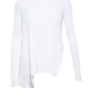 STELLA MCCARTNEY | Ribbed Asymmetric Jumper | brownsfashion.com | The Finest Edit of Luxury Fashion | Clothes, Shoes, Bags and Accessories for Men & Women