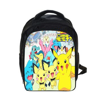 Anime Backpack School Japan kawaii cute Pokemon Children School Bags Cartoon Pikachu Arceus Mew Charizard Girls Boys Kindergarten BookBags AT_60_4