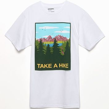 Skate Mental Take A Hike T-Shirt - Mens Tee - White