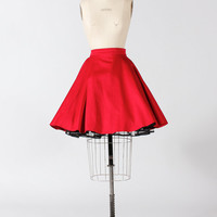1950s vintage style pin up circle skirt in red Small / Medium / Large : Stella