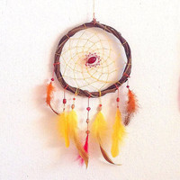 Phoenix unique handmade dreamcatcher, natural home decor, nursery, boho home