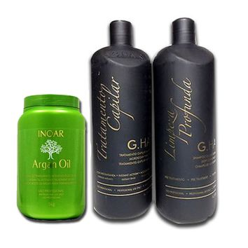 G HAIR MARROQUINO TRATAMIENTO DE QUERATINA SET 3 PCS . 1000ml 34 oz
