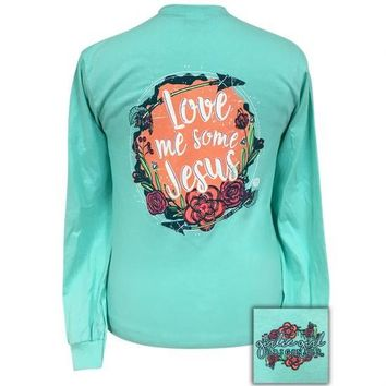 Girlie Girl Originals Love Me Some Jesus Faith Long Sleeve T-Shirt