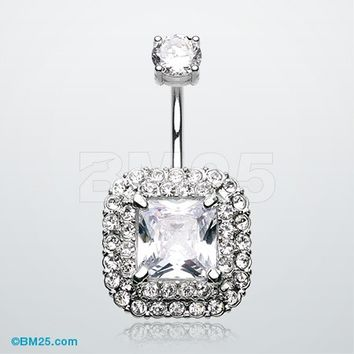 Princess Magnificent Sparkle Belly Button Ring