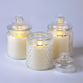 "6 Flameless Jar Candles - Each Candle Requires(2) "" Aa ""  Batteries - Not Included"