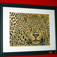 Leopard Wall Art Handmade from Birch Wood