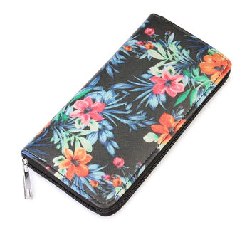 Hawaiian Flower Print Wallet