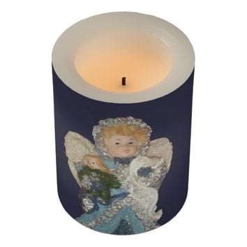 Angel Wrapped LED Flameless Candle