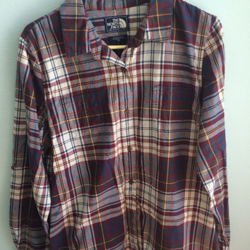 vintage the north face super soft flannel