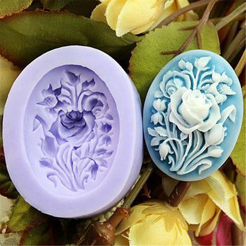 Fine Relic Rose Shape Confectionery Tools For Decorating Cakes Kitchen Tools Molds for Plaster Homemade Soap Form Chocolate