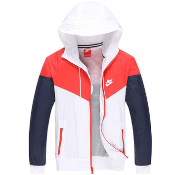 Trendsetter NIKE Hooded Zipper Cardigan Sweatshirt Jacket Coat Windbreaker Sportswear