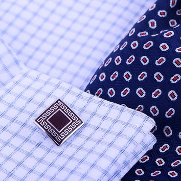 Burgundy Button Cufflinks