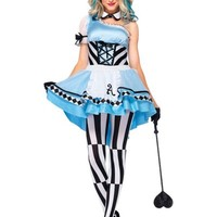 Adult Harlequin Alice Costume- Party City