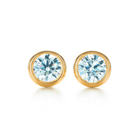 Tiffany & Co. - Elsa Peretti® Diamonds by the Yard® earrings in 18k gold.