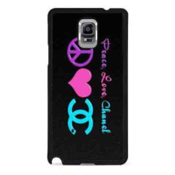 Peace Love Chanel for samsung galaxy note 4 case