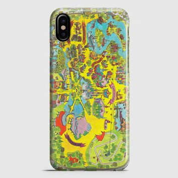 Vintage Walt Disney World Map Fantasyland 1971 iPhone X Case