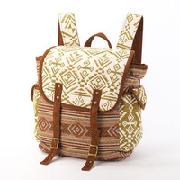 Wide Open Backpack, Diaper  Bag/ Native American Southwestern Pattern/ Everyday Backpack, Carry on Bag,