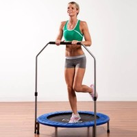 Pure Fun 40-Inch Mini Trampoline with Hand Rail