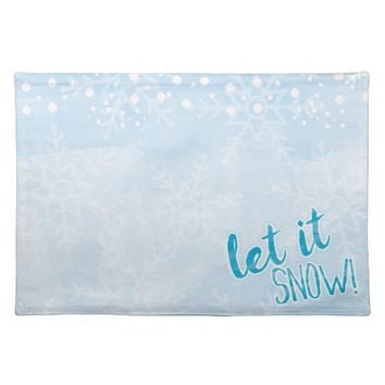 Let It Snow Christmas Placemat