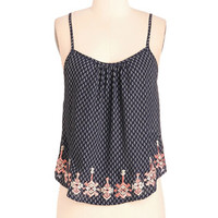 Boho Mid-length Spaghetti Straps Cropped Anywhere the Whim Blows Top