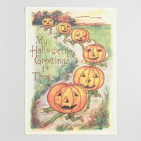 Vintage Jack-O-Lantern Kitchen Towel