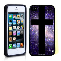 iPhone 5 5S Case ThinShell TPU Case Protective iPhone 5 5S Case Shawnex Galaxy Hipster Cross Nebula Space