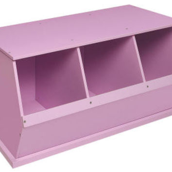 Stackable Storage Cube 3 bin lilac Finish