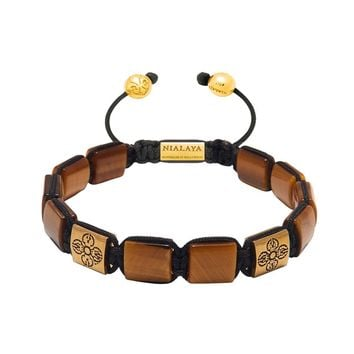 The Dorje Flatbead Collection - Brown Tiger Eye and Gold